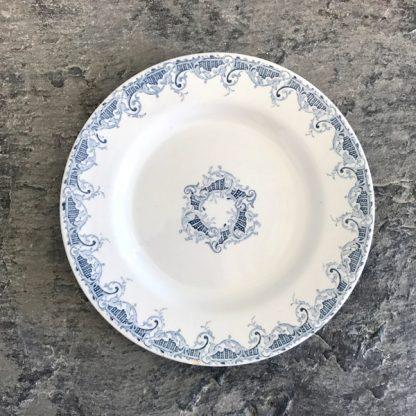assiette faïence Lunéville