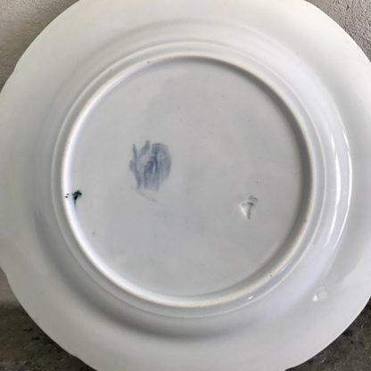 assiette faïence plate Lunéville modèle Kléber