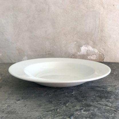Grand plat blanc vintage en porcelaine