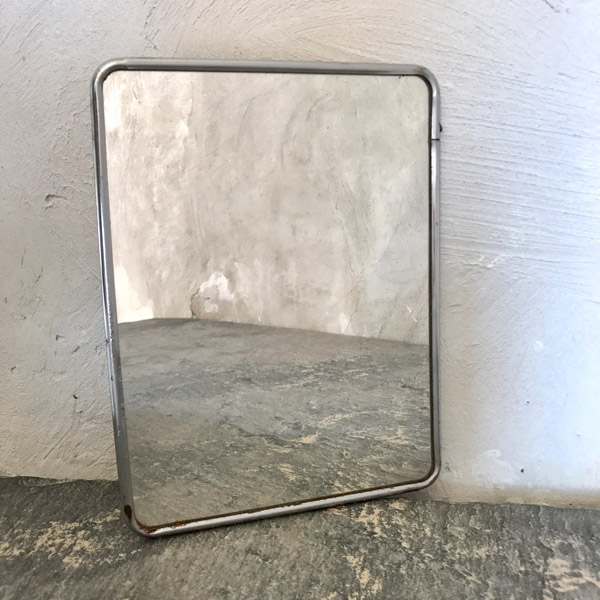 Miroir de barbier avec patte d 39 accroche brocante et d co for Accroche miroir
