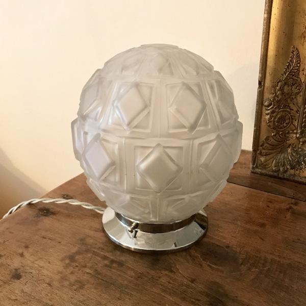 Fantastisk Lampe globe Art Déco #2 - Brocante et Déco Chic JN97