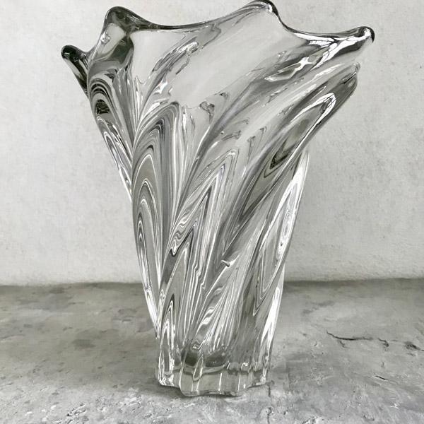 Grand Vase En Cristal Brocante Et Dco Chic