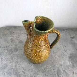 pichet en céramique vallauris jaune vert
