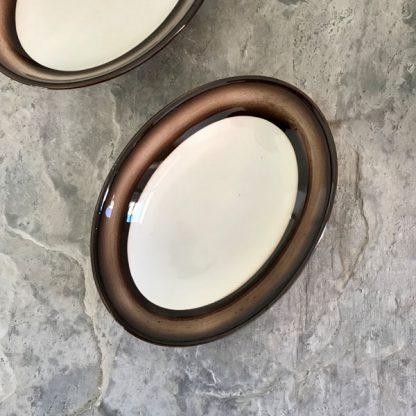 Paire de plat en céramique Galvani de Porcenone