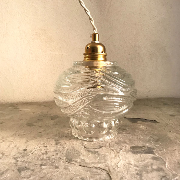 Usædvanlig Lampe globe verre vintage - Brocante et Déco Chic OE93