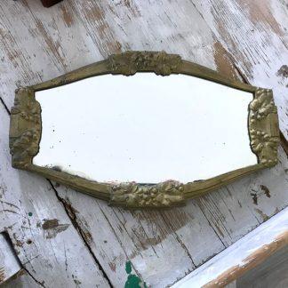 Miroir en métal doré Art Déco
