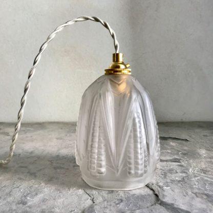 Lampe baladeuse Art Déco, décor d'épis de blé