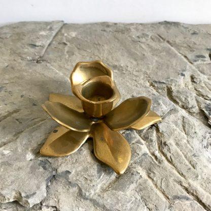Bougeoir fleur en laiton vintage