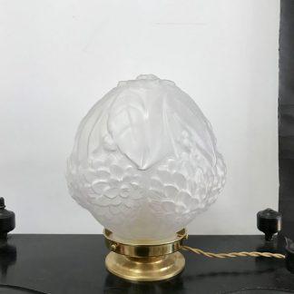 lampe-globe-art-deco-feuilles-fleurs-relief-1