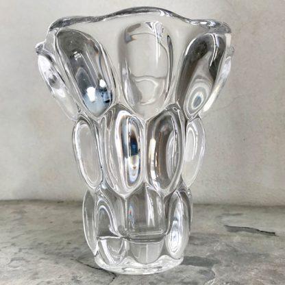 Vase ancien en cristal de Sèvres modèle étrusque