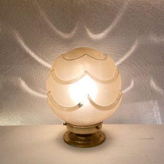 lampe-globe-art-deco-jaune-vagues-1