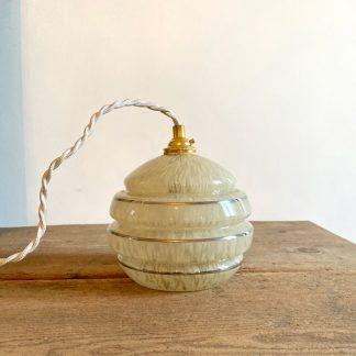 lampe-baladeuse-tulipe-verre-clichy-jaune-argente-1