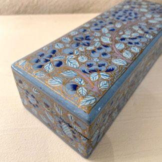 boite-carton-bouilli-rectangulaire-bleu-or-fleurs-2