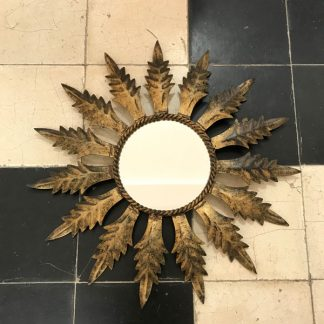 miroir-grandes-feuilles-dore-metal-rond-1