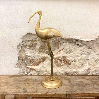 grand-ibis-oiseau-laiton-dore-1