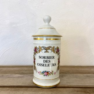 pot-pharmacie-porcelaine-limoges-sorbier-oiseleurs-fleurs-1