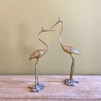 paire-couple-heron-ibis-laiton-dore-1