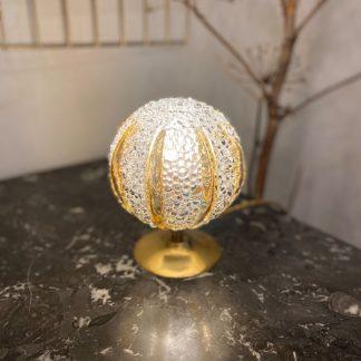 lampe-globe-bulles-cotes-ambre-verre-moule-1