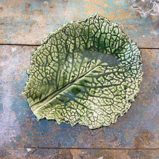 assiette-feuille-vert-choux-ceramique-1