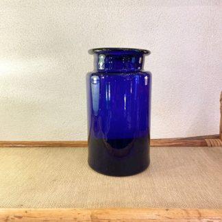 pot-vintage-verre-bleu-cobalt-1